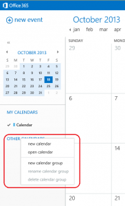 02. Open the Organization Calendar